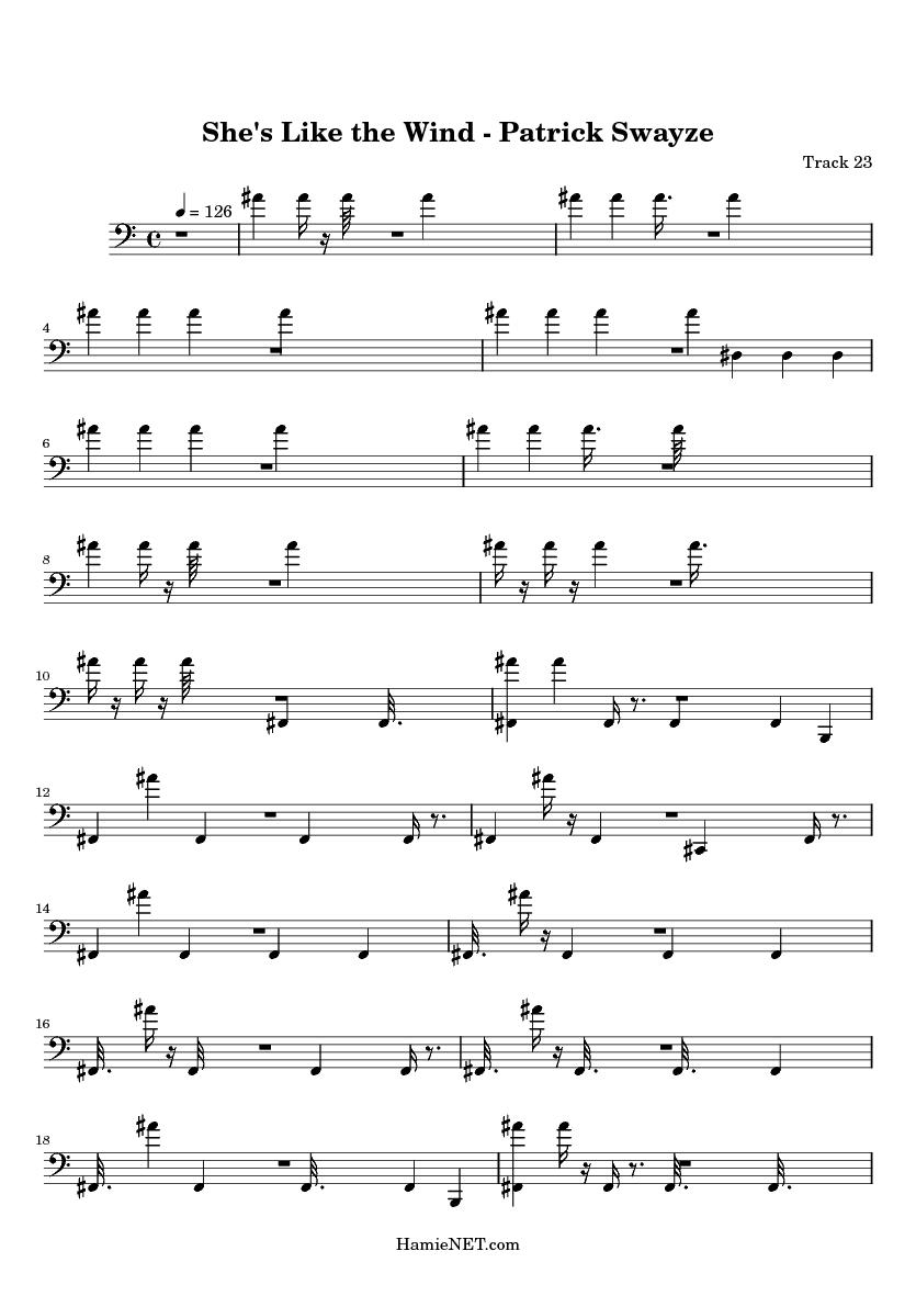 She's Like the Wind - Patrick Swayze Sheet Music - She's ...