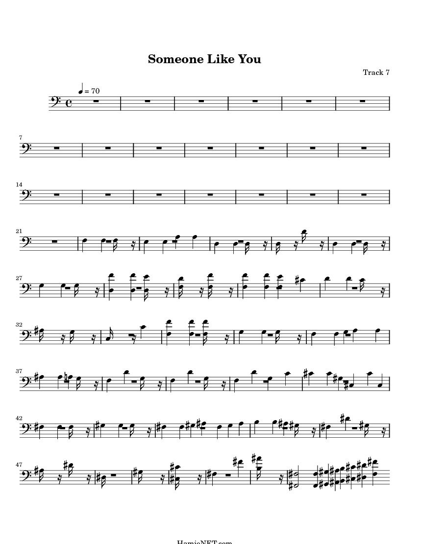 someone like you sheet music pdf