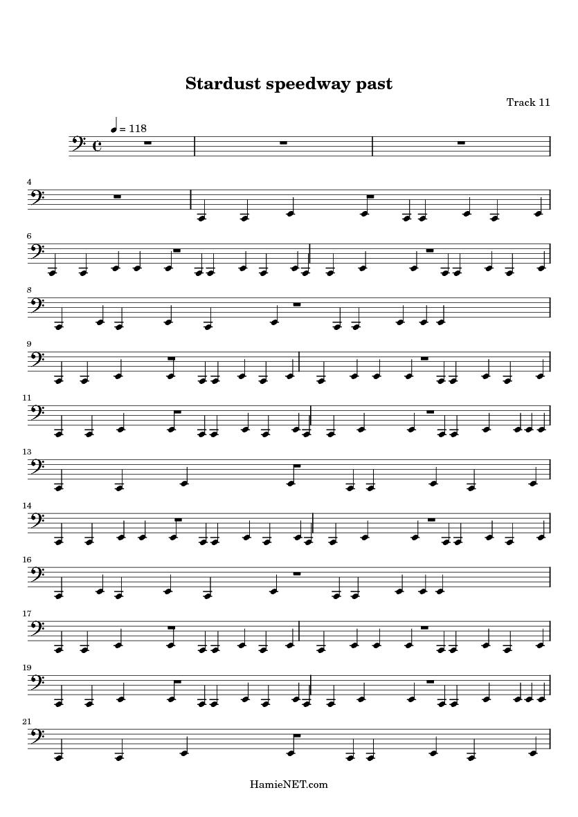Stardust Sheet Music Heartpulsar