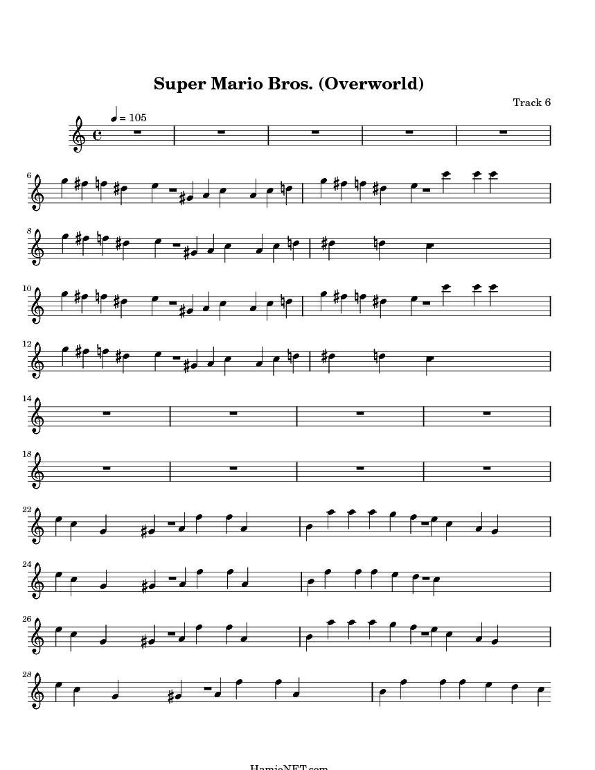 Super Mario Theme Sheet Music
