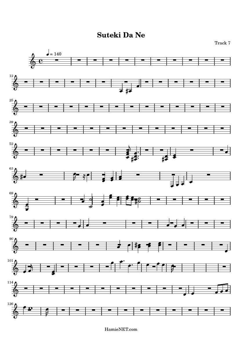 Suteki Da Ne Sheet Music - Suteki Da Ne Score • HamieNET.