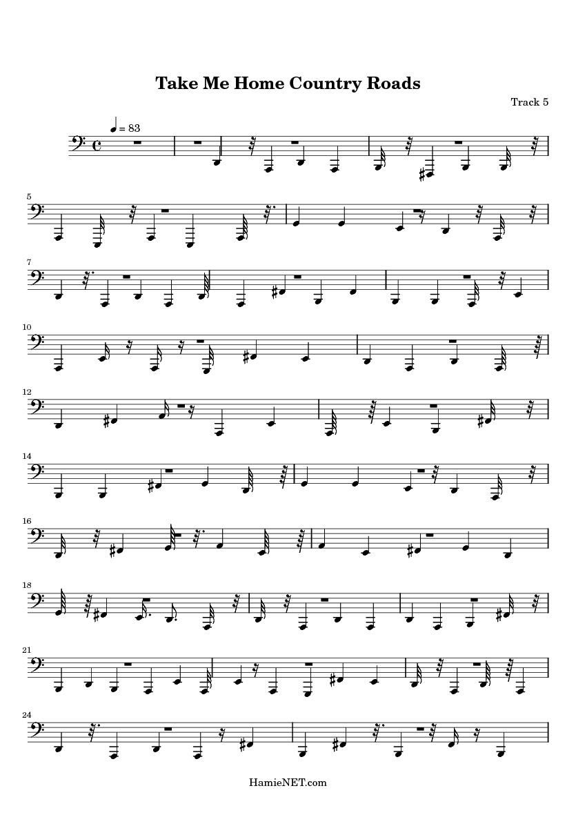 take me home country roads piano sheet music free pdf