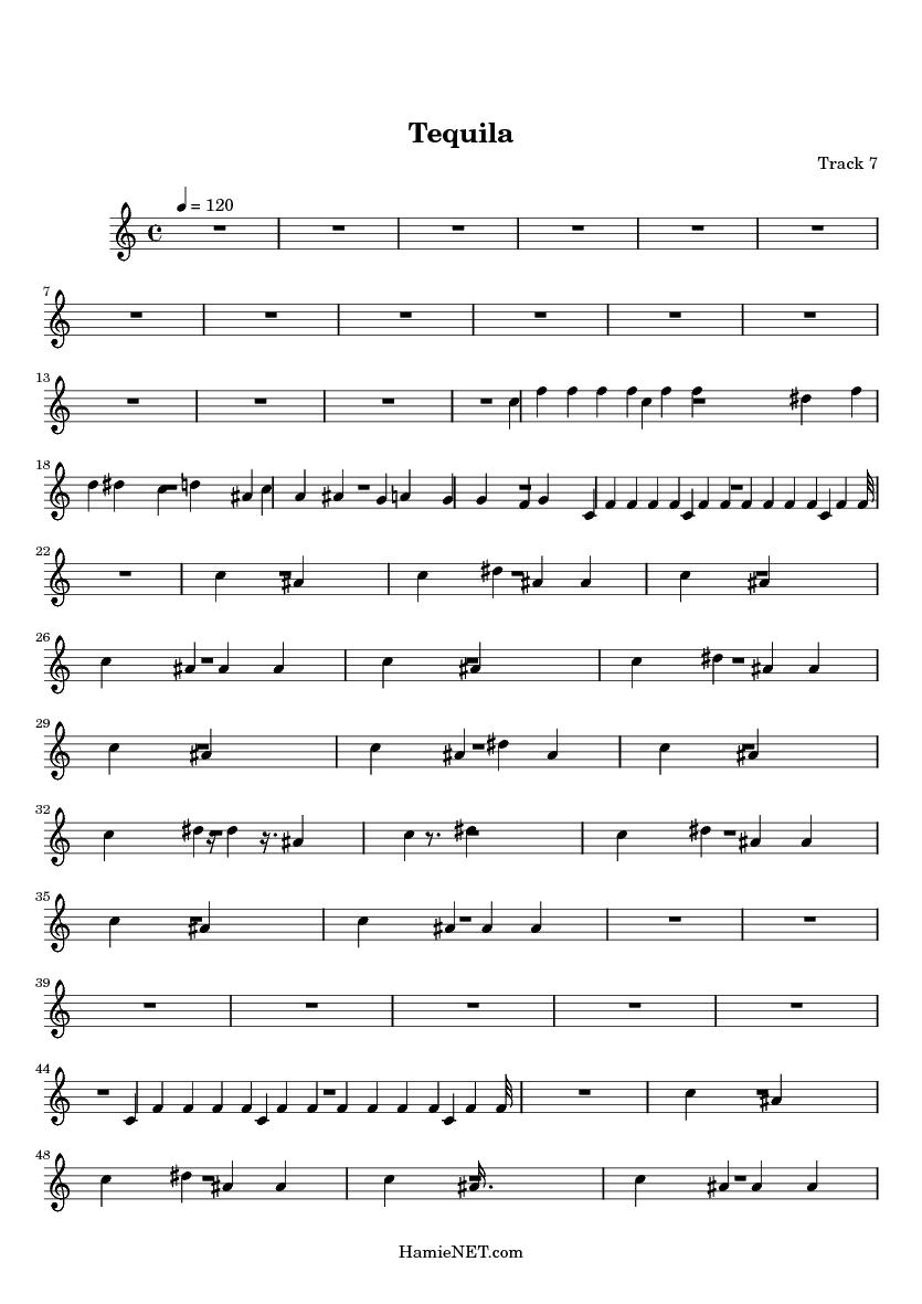 Tequila Sheet Music - Tequila Score • HamieNET com