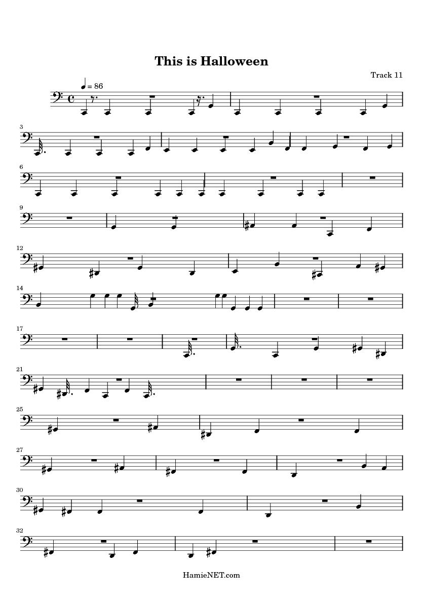 this is halloween midi score track 11