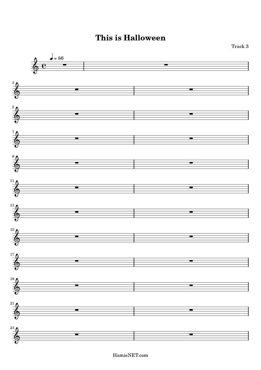 this is halloween midi score track 3