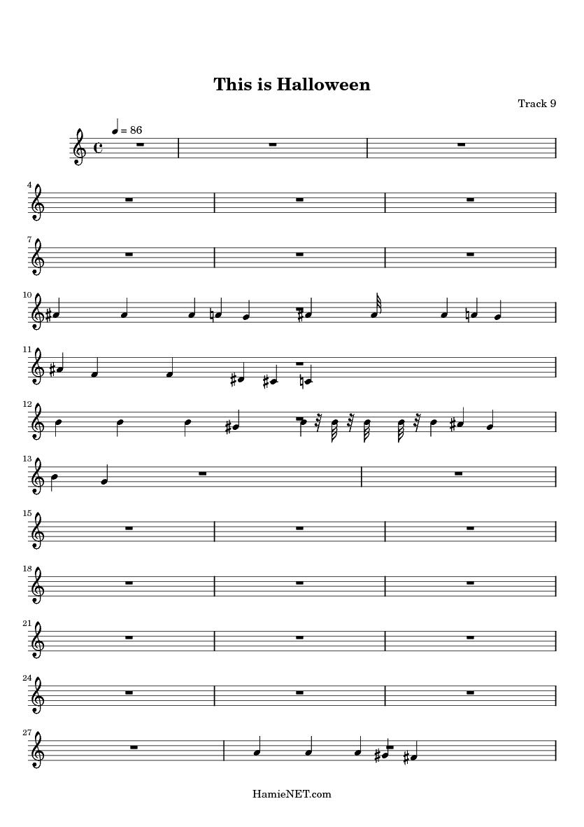 this is halloween midi score track 9