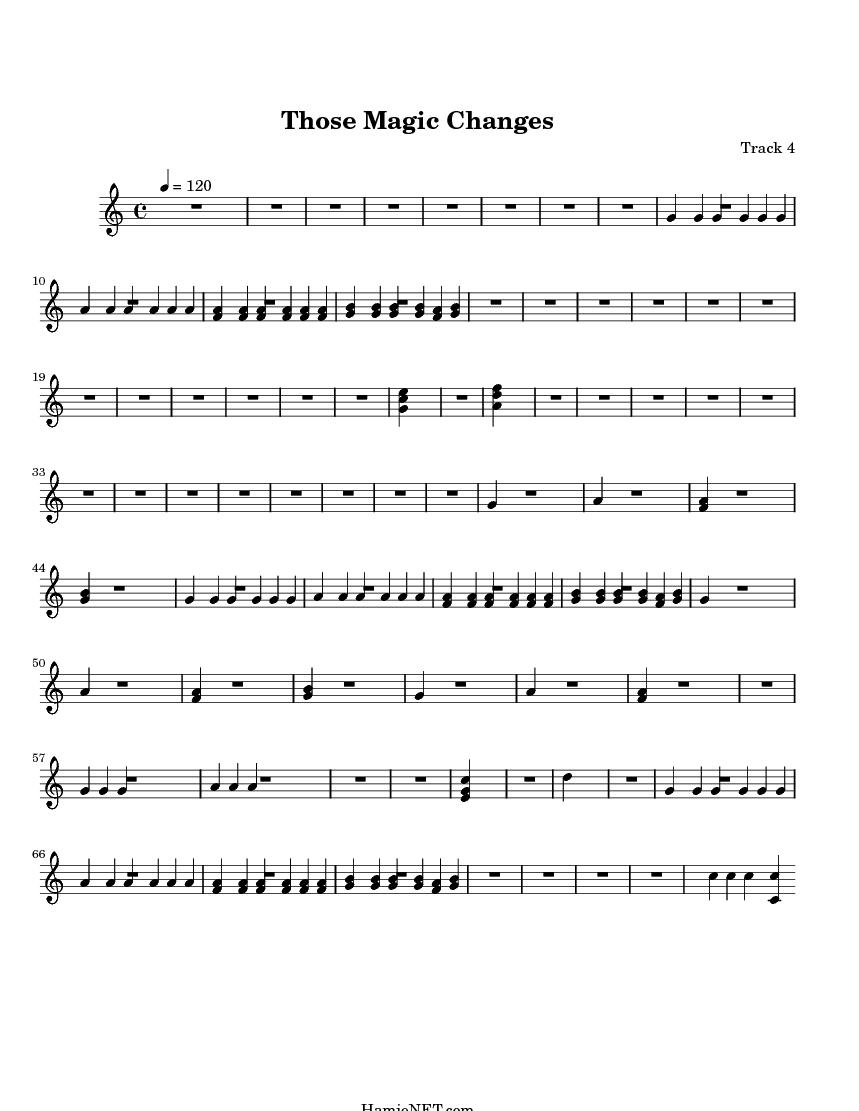 those magic changes sheet music pdf