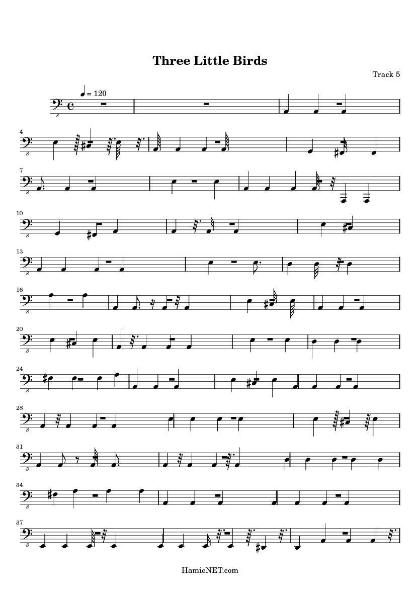 Three Little Birds Sheet Music Denmarpulsar