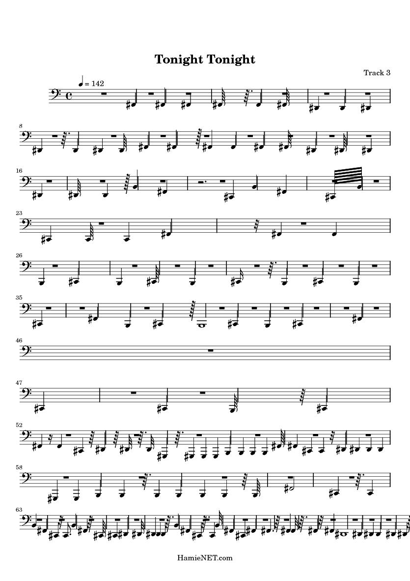 Tonight Tonight > MIDI-Score Track 3