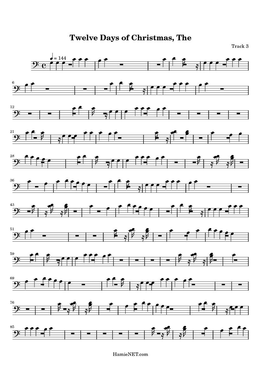Twelve Days Of Christmas Sheet Music.The Twelve Days Of Christmas Sheet Music The Twelve Days