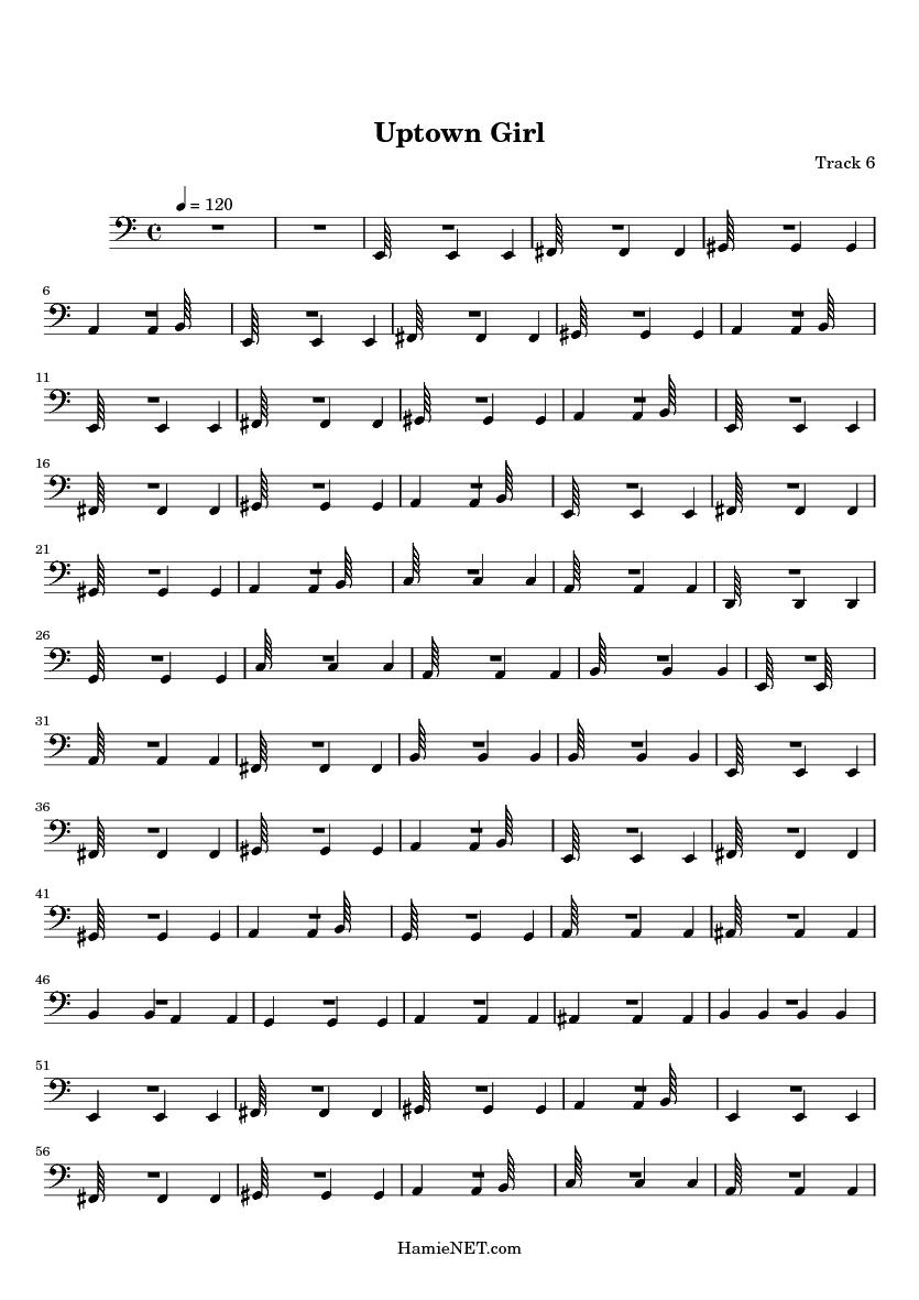 Uptown girl sheet music uptown girl score hamienet com
