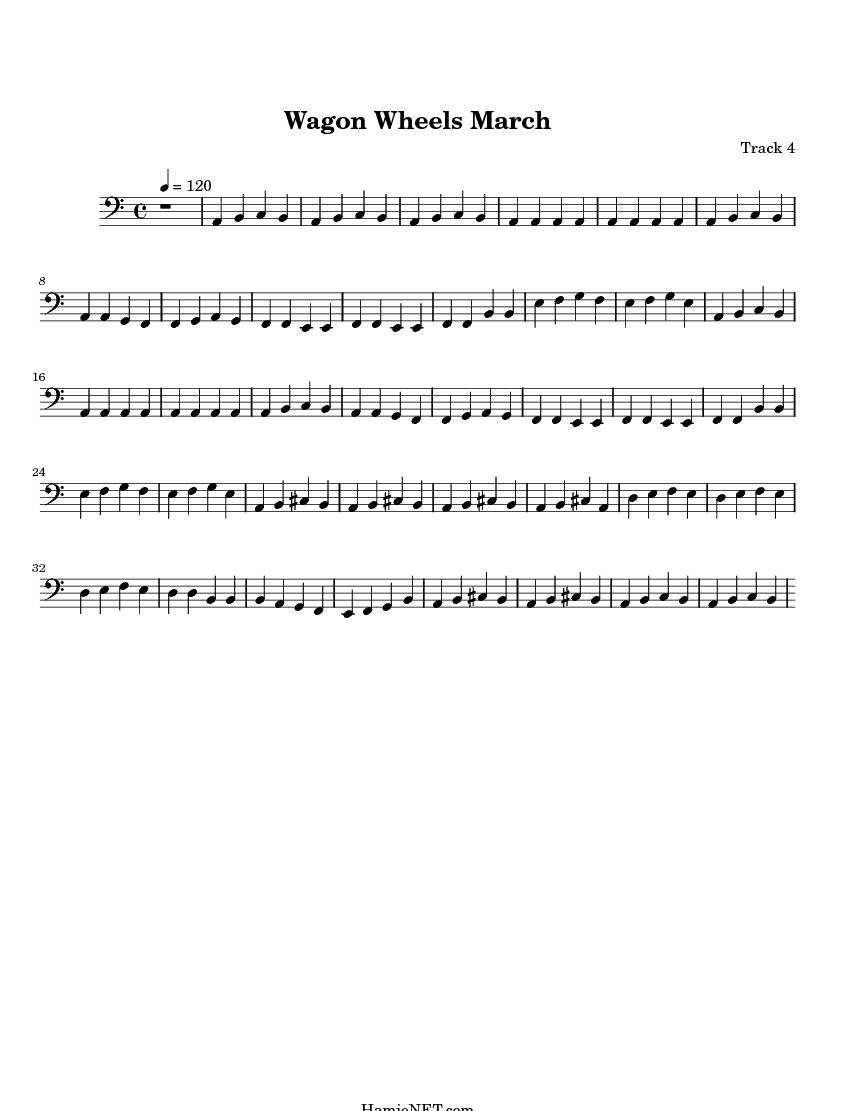 Violin Sheet Music For Wagon Wheel images