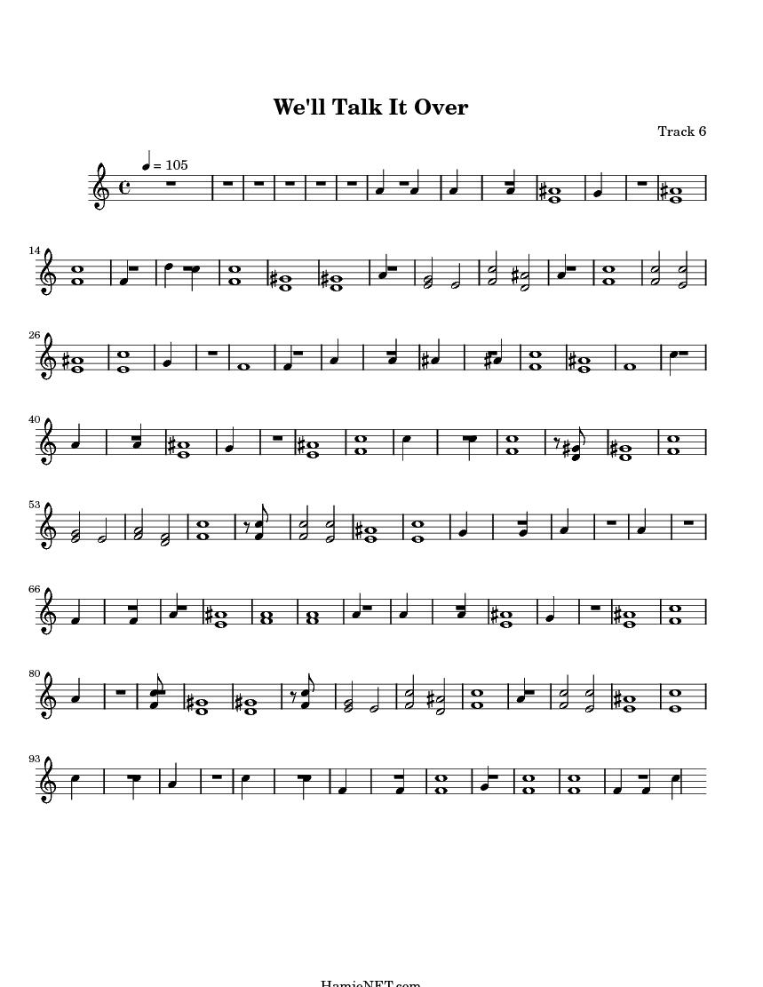 Well Talk It Over Sheet Music - Well Talk It Over Score