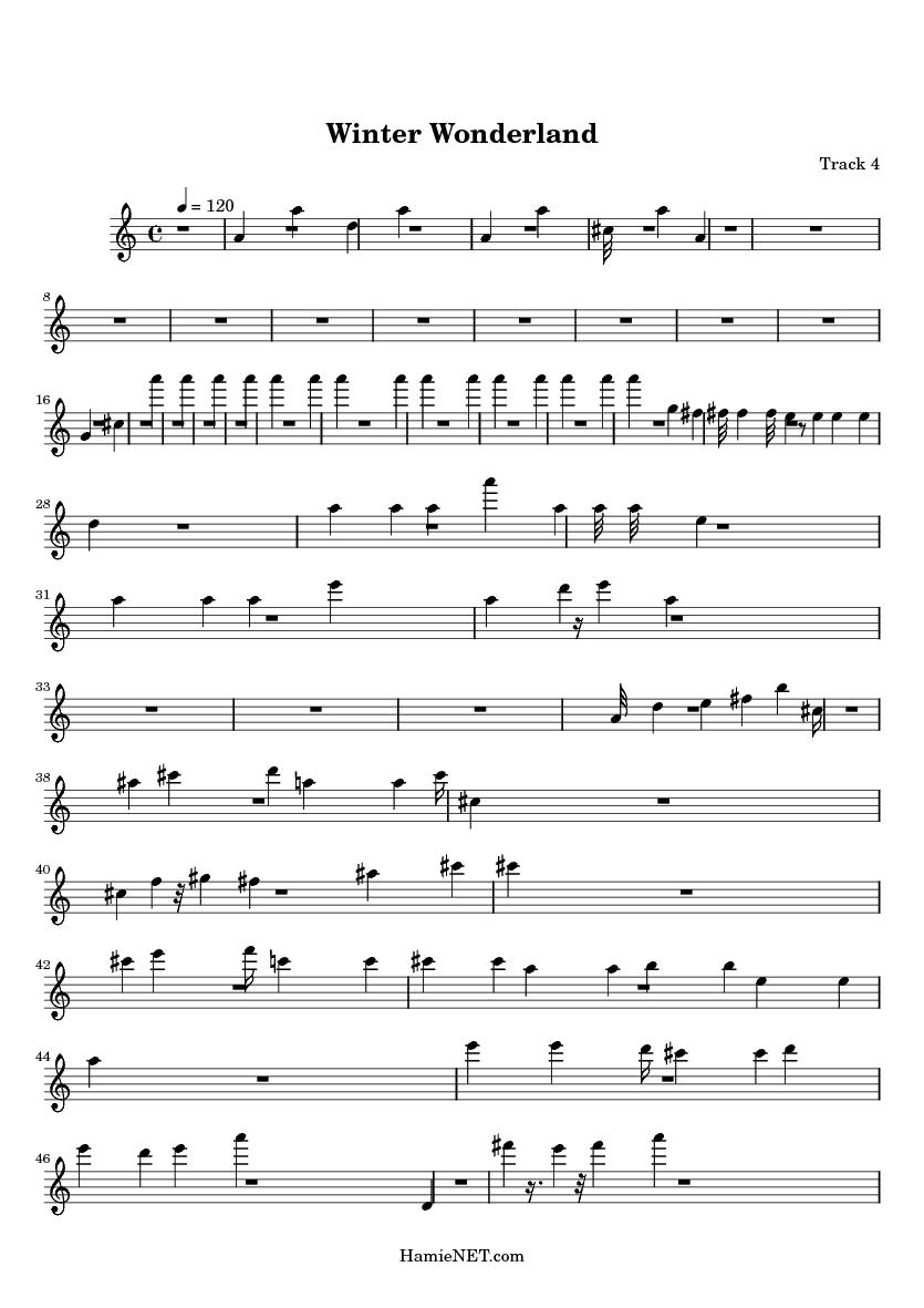 Winter wonderland sheet music winter wonderland score hamienet