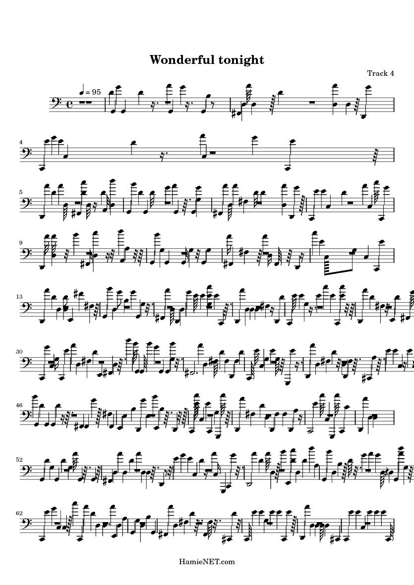 wonderful tonight sheet music wonderful tonight score