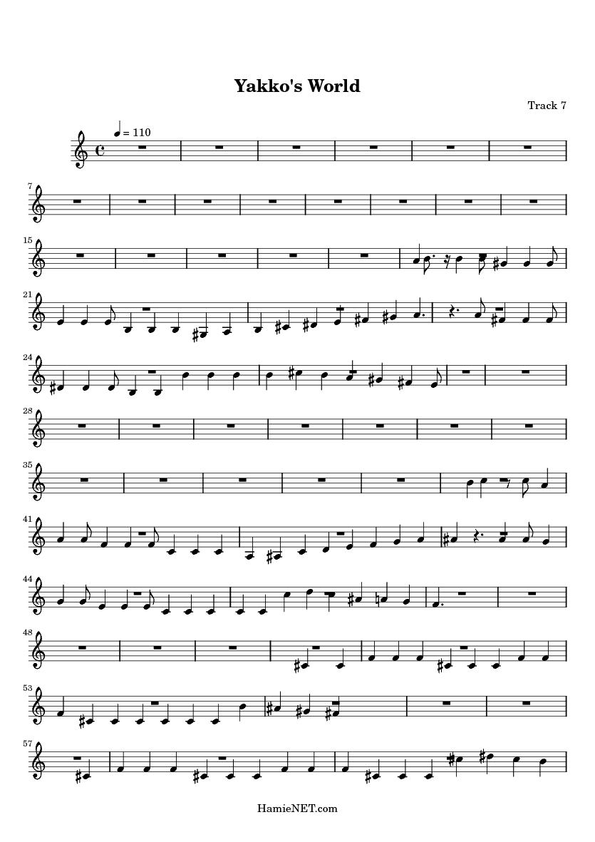 Yakko's World Lyrics