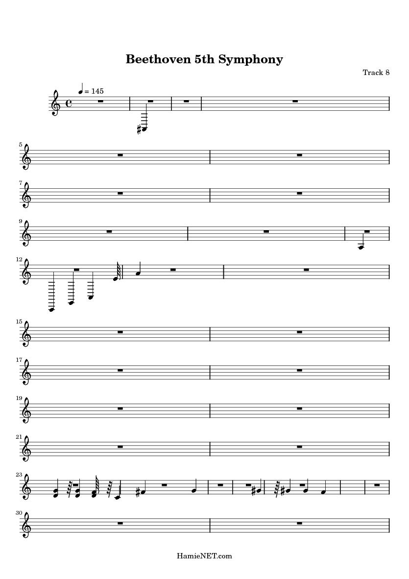 5Th Symphony beethoven 5th symphony sheet music - beethoven 5th symphony