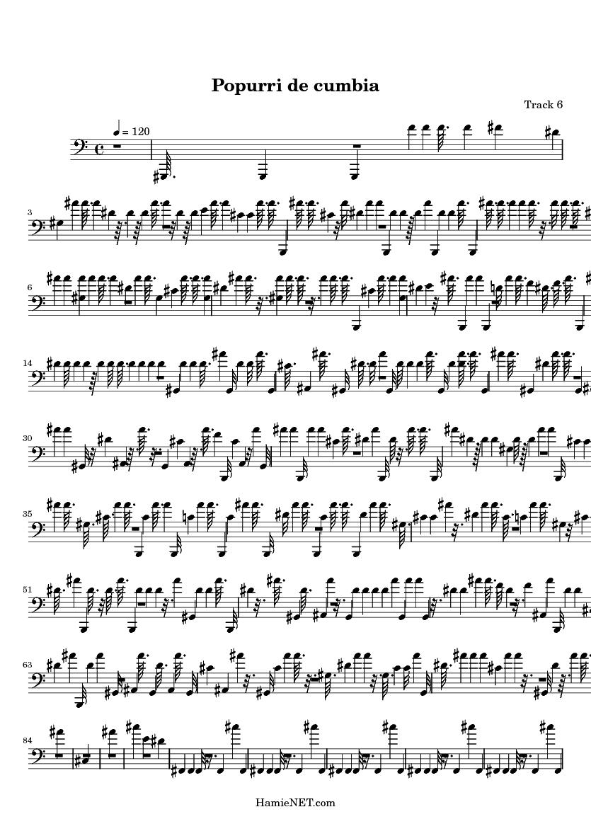 Popurri de cumbia Sheet Music - Popurri de cumbia Score