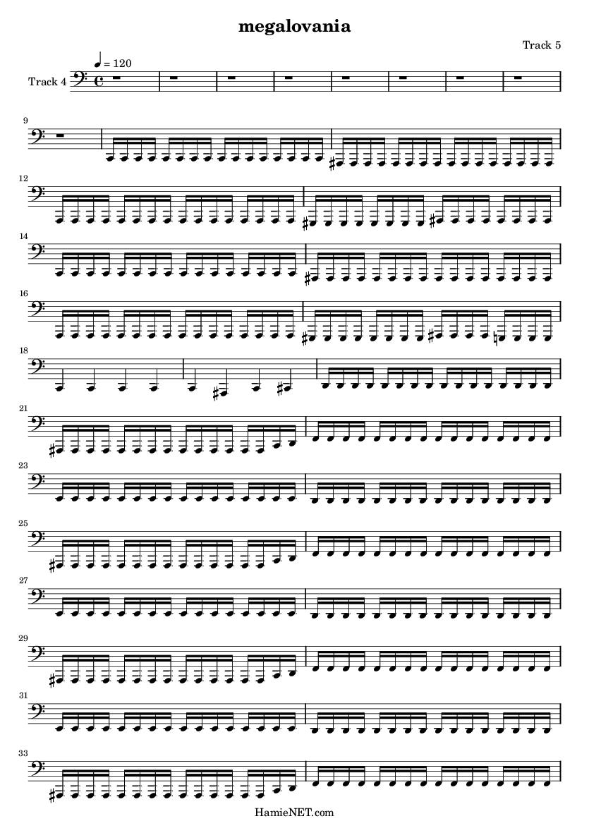 megalovania Sheet Music - megalovania Score • HamieNET com